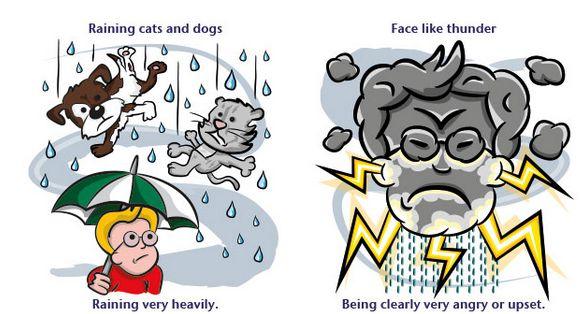 Английские идиомы о погоде про дождь и грозу