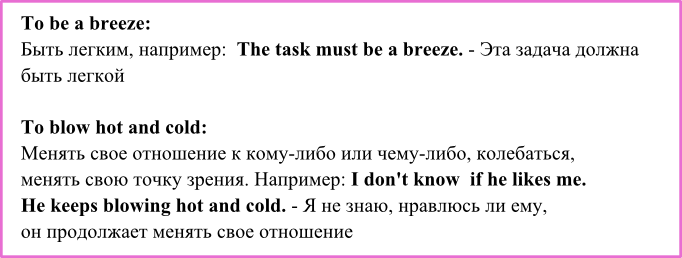 weather idioms 2
