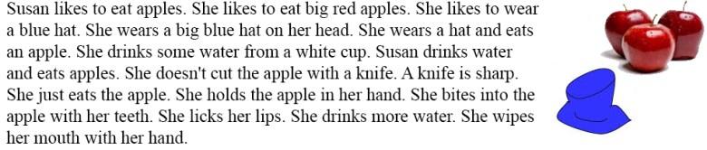 читать и слушать на английском - water and an apple