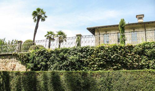Der italienische Garten ist terrassenartig auf verschiedenen Ebenen angelegt.