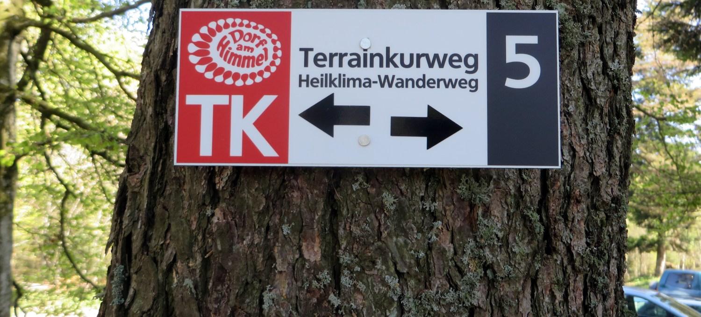 Schild Terrainkurweg 5