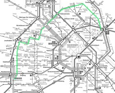 Die Linie 5 im Gesamtplan Quelle: Wiener Linien