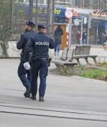 Polizeipräsenz am Praterstern