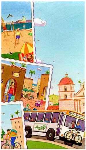Illustration Linie5 Santa Barbara