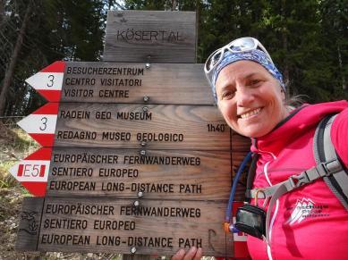 Bergwanderführerin Anke Zormeier © Anke Zormeier/www.linie5.com