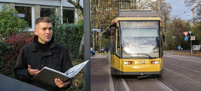 Georg Hertweck Karlsruhe quer mit der Linie 5