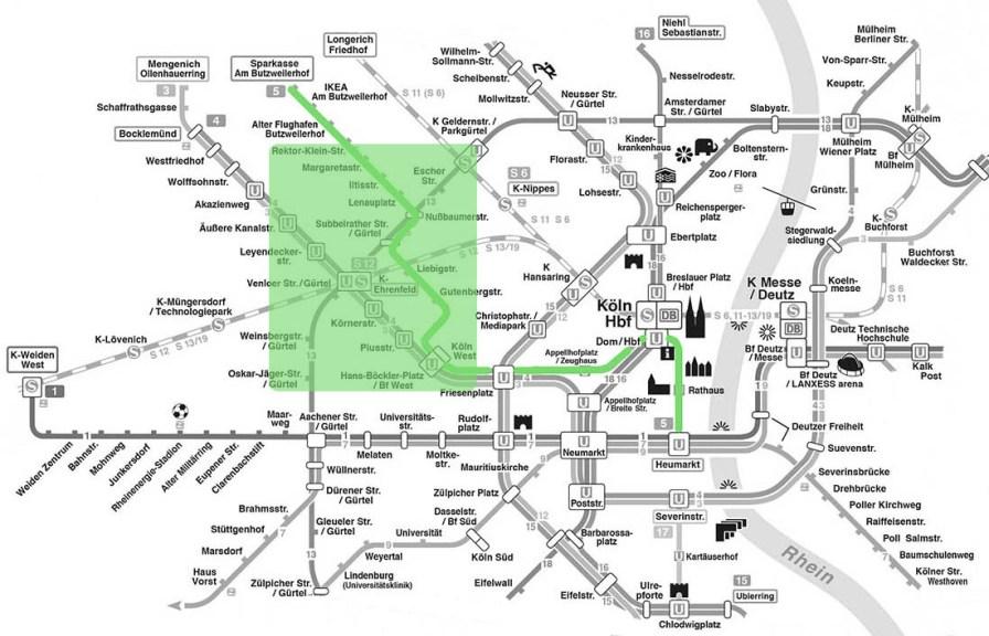 Unterwegs zwischen Westbahnhof und JVA Ossendorf.