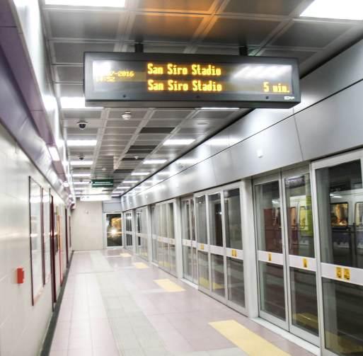 M5-Bahnsteig in Mailand.