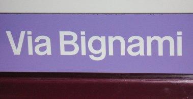 M5 Haltestellenschild Bignami