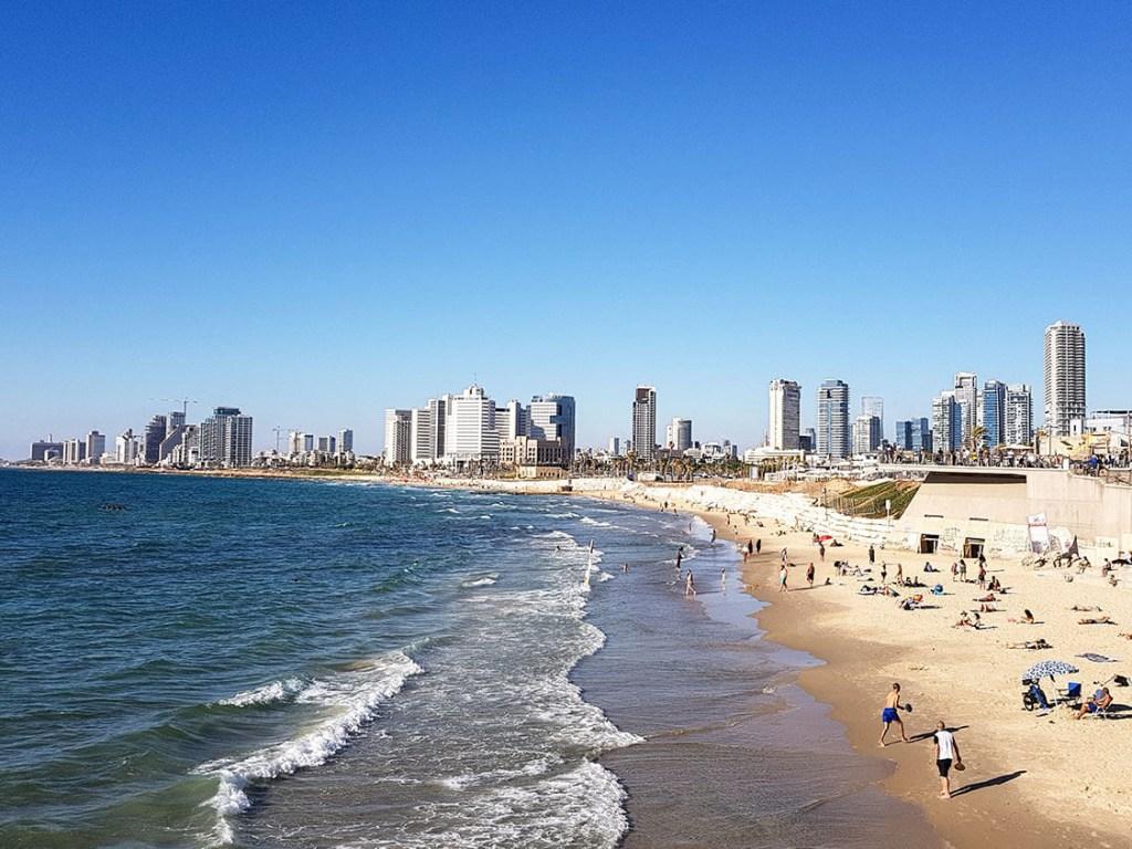 14 km Strandpromenade in Tel Aviv