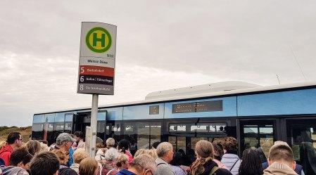 Buslinie 5 Norderney, Haltestelle Strand weiße Düne