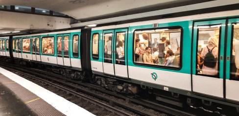 Waggons auf der Linie 5 Paris, Metro
