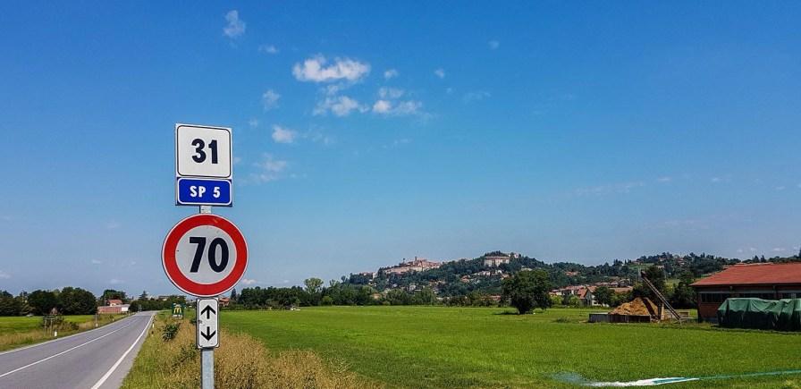 Straßenschild SP5 Mondovi-Cuneo