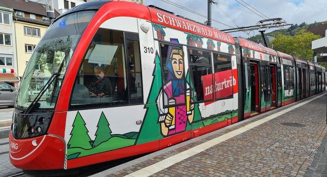 Straßenbahn der Linie 5 in Freiburg