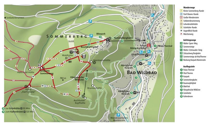 Sommerberg-Karte Copyright Bad Wildbad