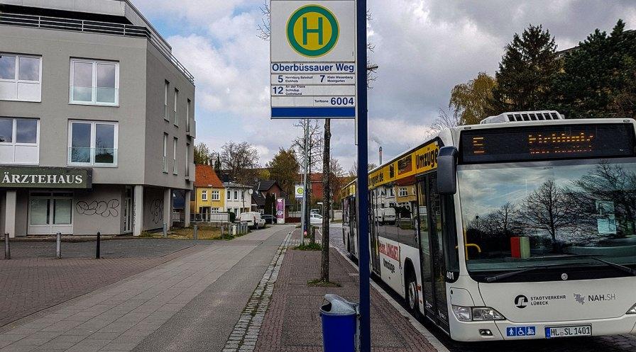 Moisling - Haltestelle Oberbüssauer Weg.