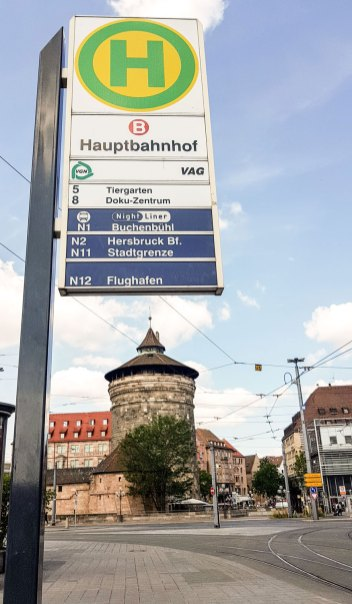 Haltestelle Hauptbahnhof Nürnberg