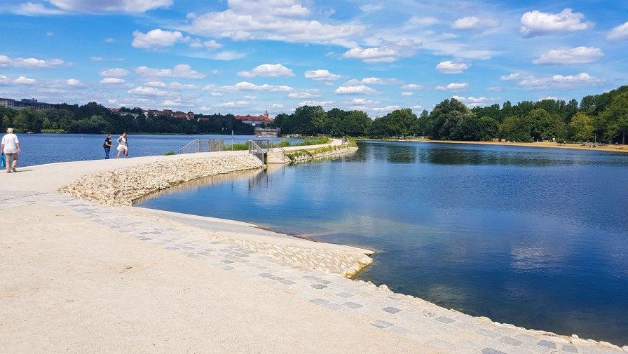 Damm am Wöhrder See, Norikusbucht Nürnberg