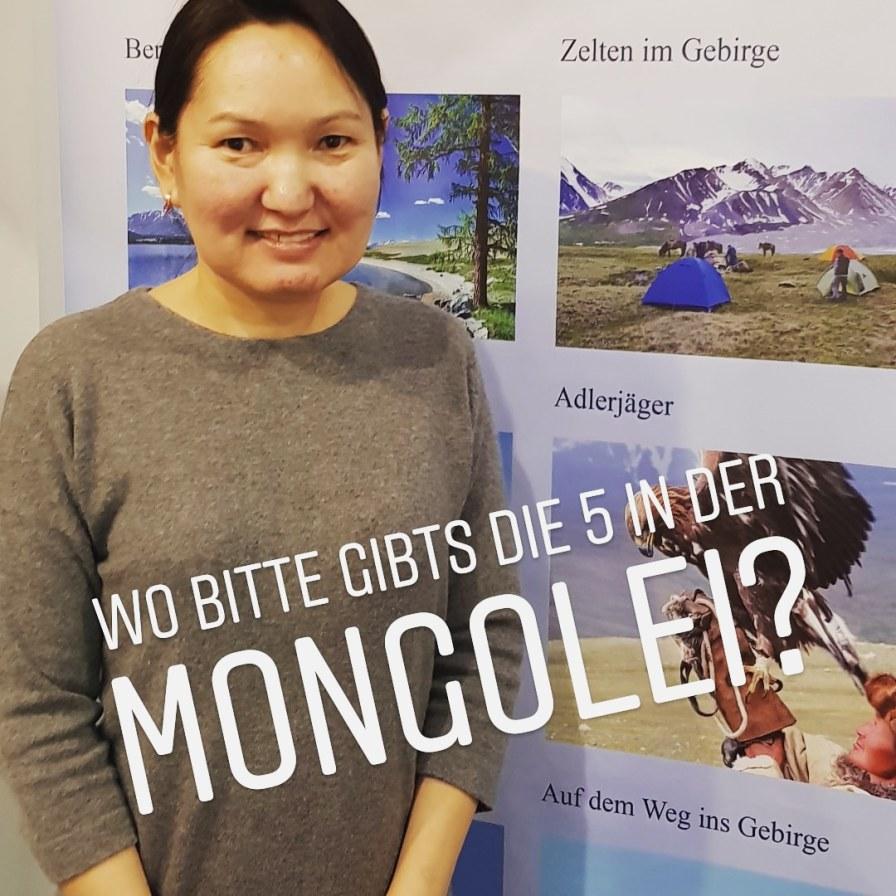 Messestand und Jurte - die Mongolei auf der CMT
