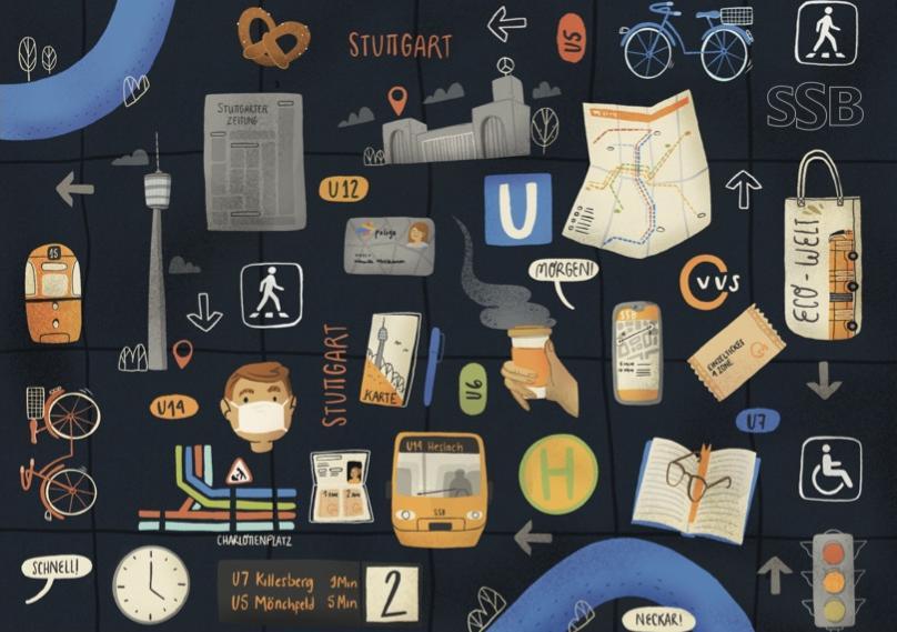 SSB-Designwettbewerb 1. Platz Entwurf von Gabriella Micciche - @ micci_draws-SSB AG