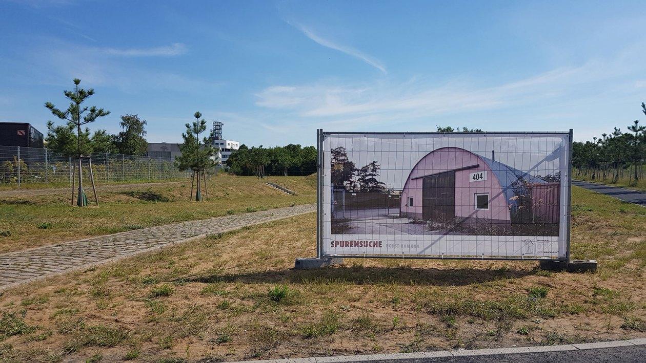 Outdoor-Foto-Ausstellung Spurensuche in Mannheim.