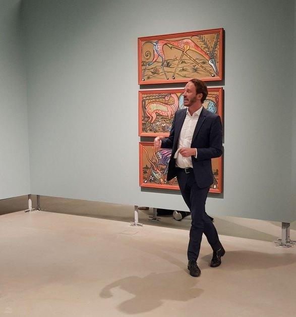 Kunsthallendirektor Johan Holten in der Aussstellung Umbruch in der Kunsthalle Mannheim