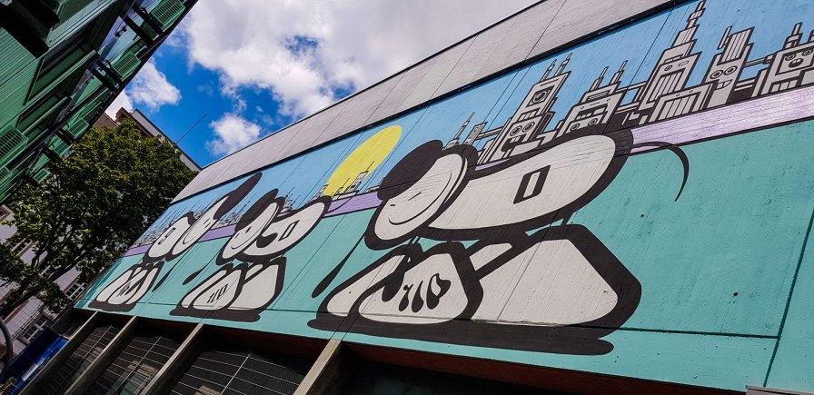 Fassadenkunst in Mannheim Stadt.Wand.Kunst