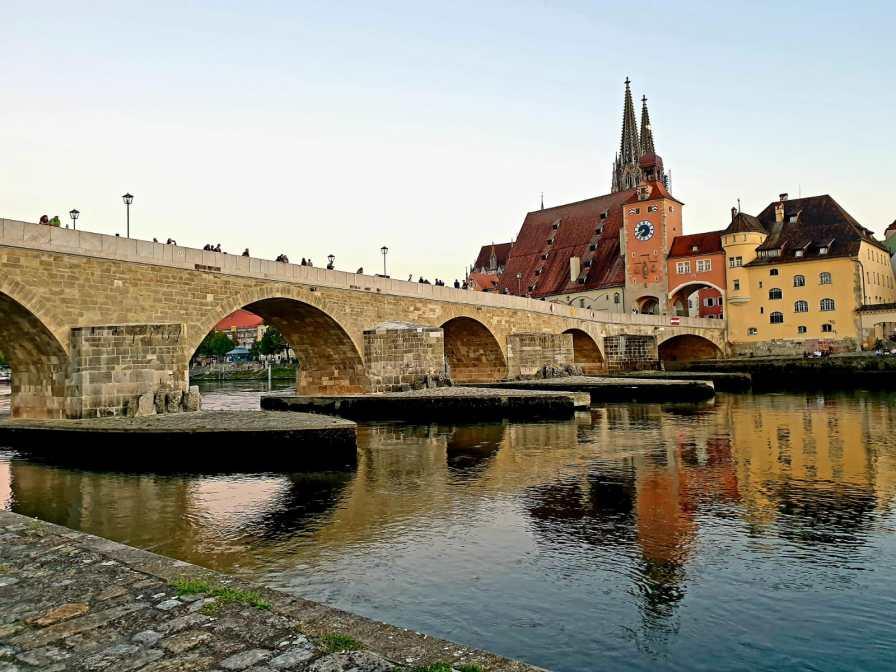 Regensburg am Fünf-Flüsse-Radweg