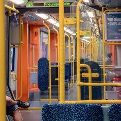 Innenraum Wagen auf der Linie U5
