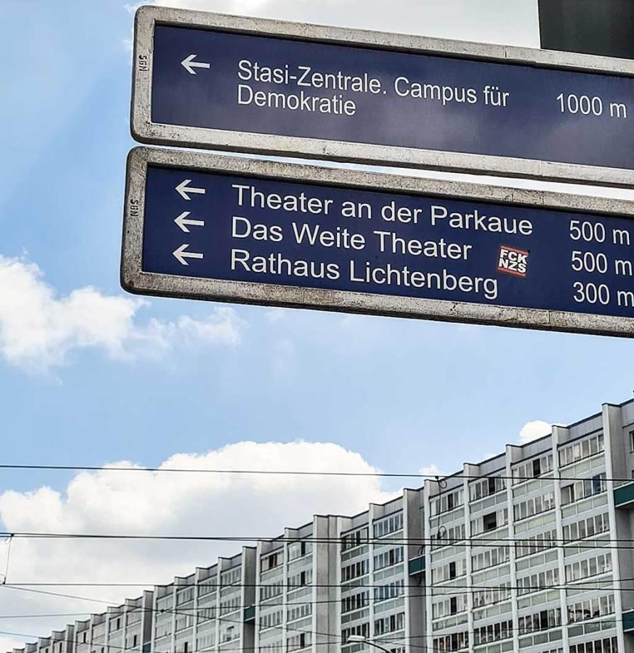 Von der Frankfurter Allee ist es nicht weit bis zur ehemaligen Stasi-Zentrale.