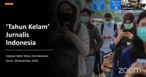 Dokumentasi Konferensi Pers Catatan Akhir Tahun AJI 2020 [Magang BP2M/Aditya]