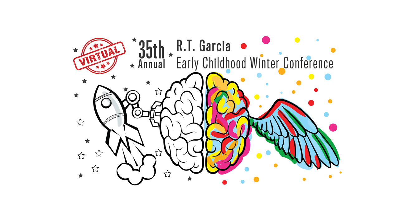 Image of the 35th Annual R.T. Garcia Early Childhood Winter Conference logo.
