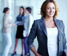 kobieta, biznes, firma