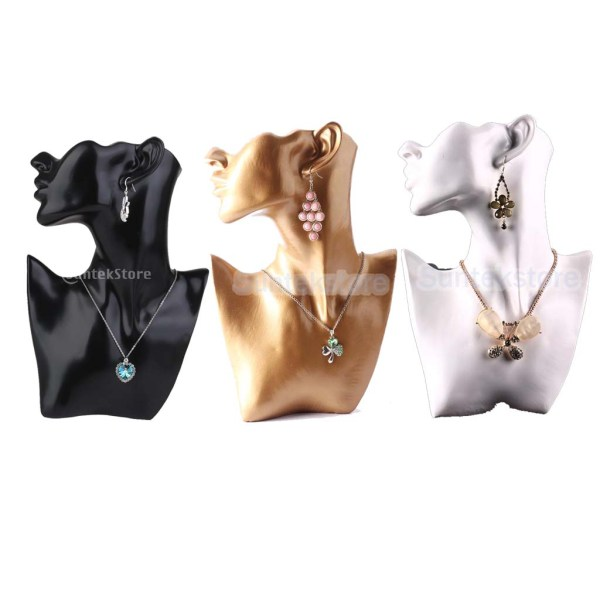 Mannequin Head Bust Stand Jewelry Display Necklace Earring