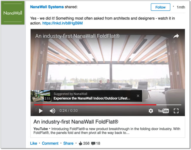 How to increase your market on linkedin using quality for Nanawall plan