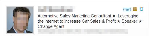 LinkedIn Headline Example