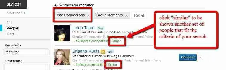 Know Your LinkedIn Search Shows Relevancy