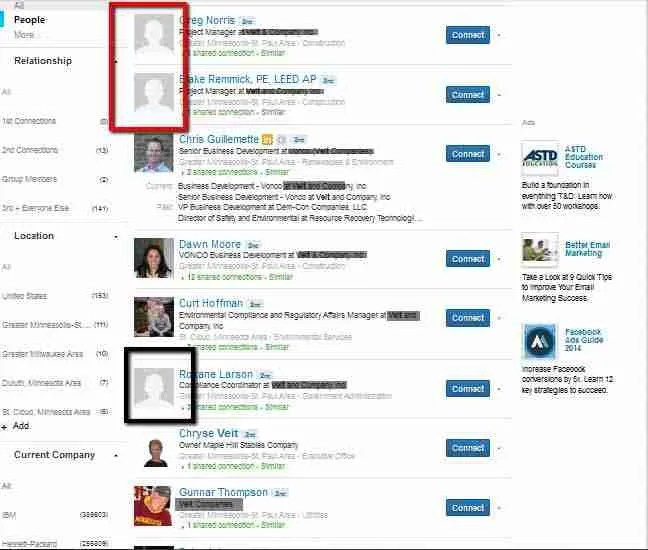 Managing LinkedIn reputation with no profile picture