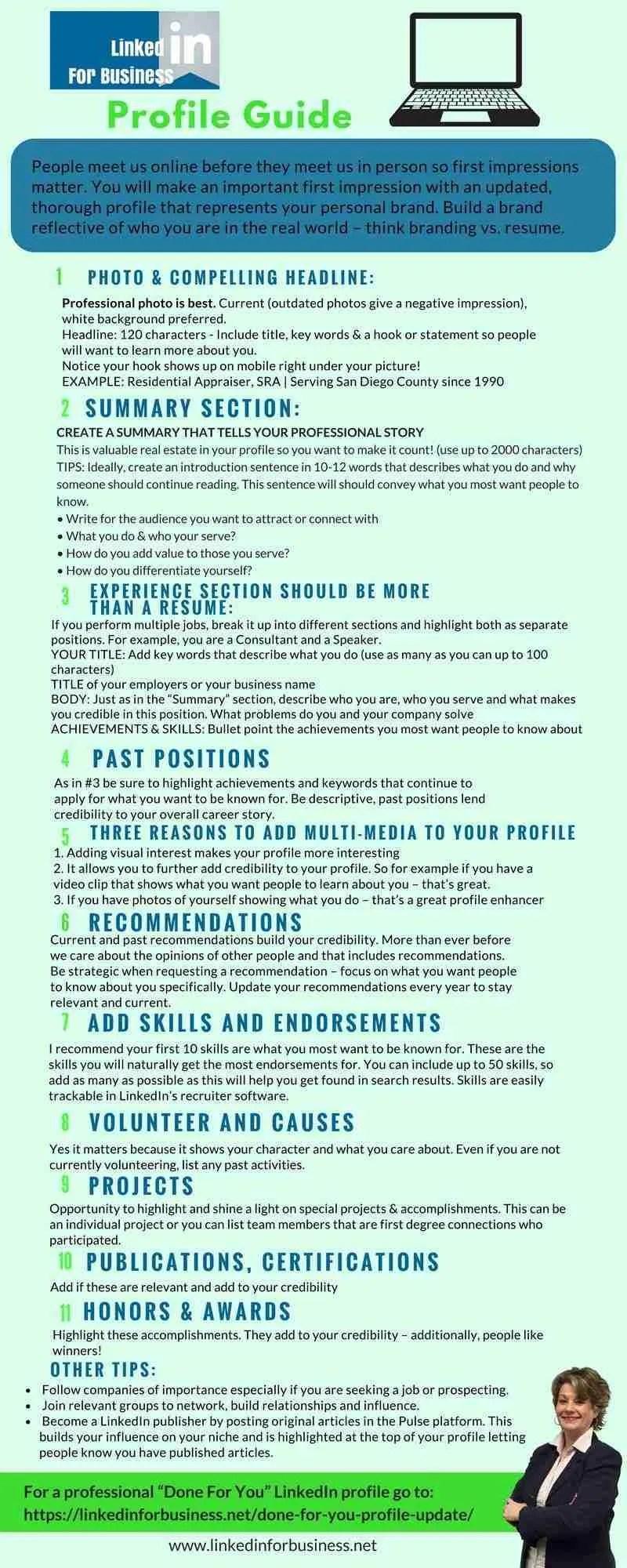 LinkedIn Profile Guide Inforaphic