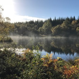 Mist on the water. Autumn at Lochan Spling
