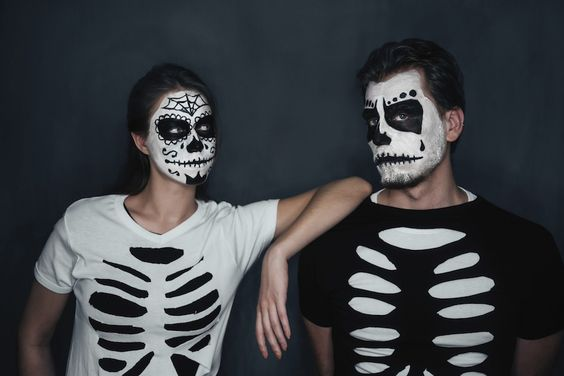 halloween, costumes, homemade, DIY, skeleton