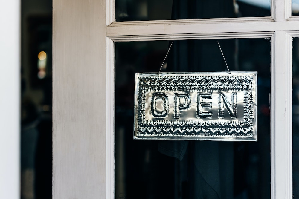 Local Small Business Resources - Open Sign
