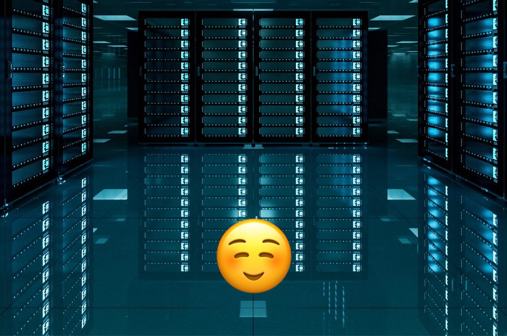 Cloud-based servers of LinkedPhone's virtual phone system for business with happy face