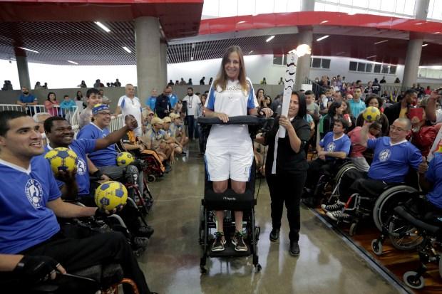 Revezamento da Tocha Paralimpica para os Jogos Paralimpicos Rio 2016