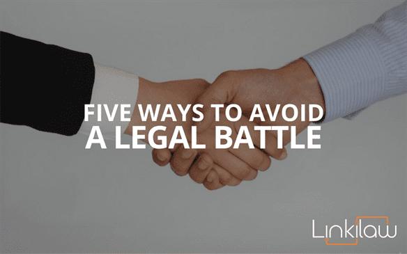 avoid a legal battle