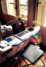 The beauty of an home office is that it can be anywhere and you can use anything.