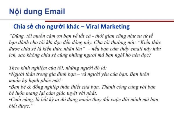nội dung email marketing thu hút