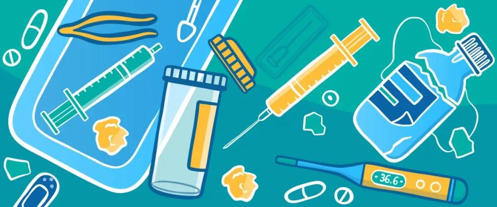 Nurse Tray with Medicine Bottles