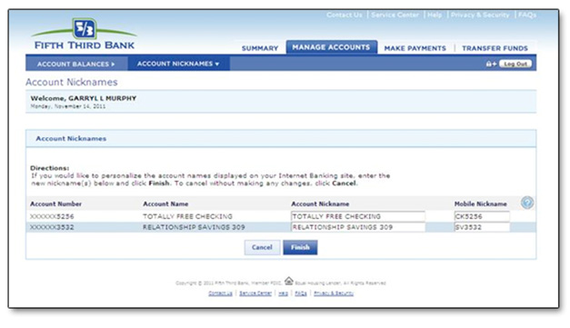 Help Manage Accounts Fifth Third Bank