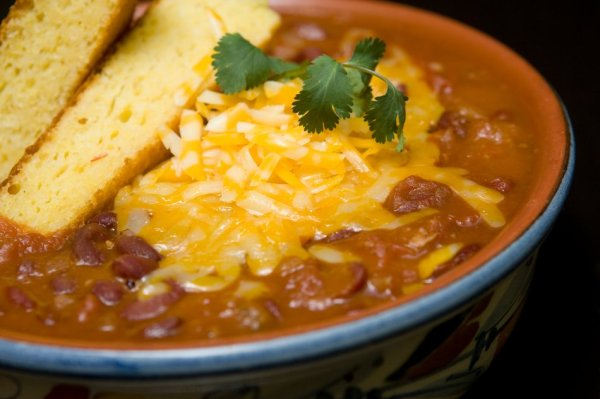 Turkey Chili with Cabot Colby Jack With Cabot Cheddar